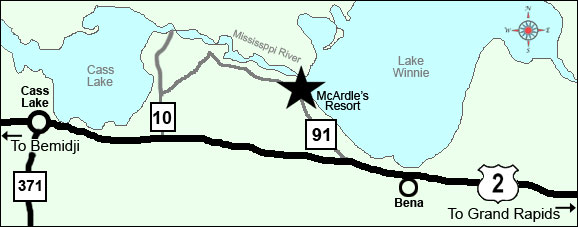 Directions to McArdle's Resort on Lake Winnibigoshish